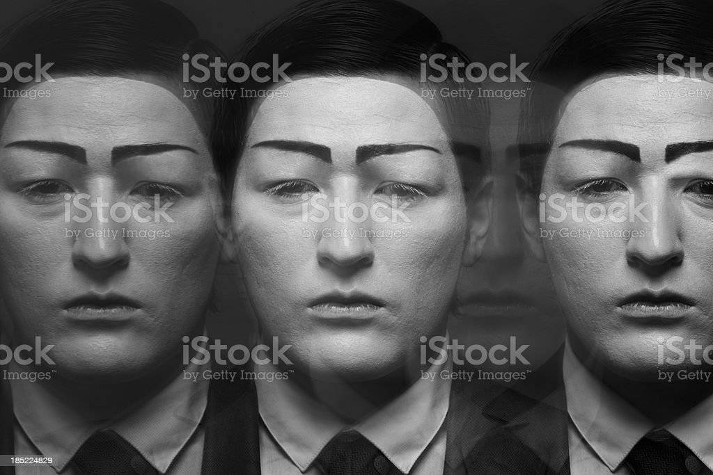 Series of mimes stock photo