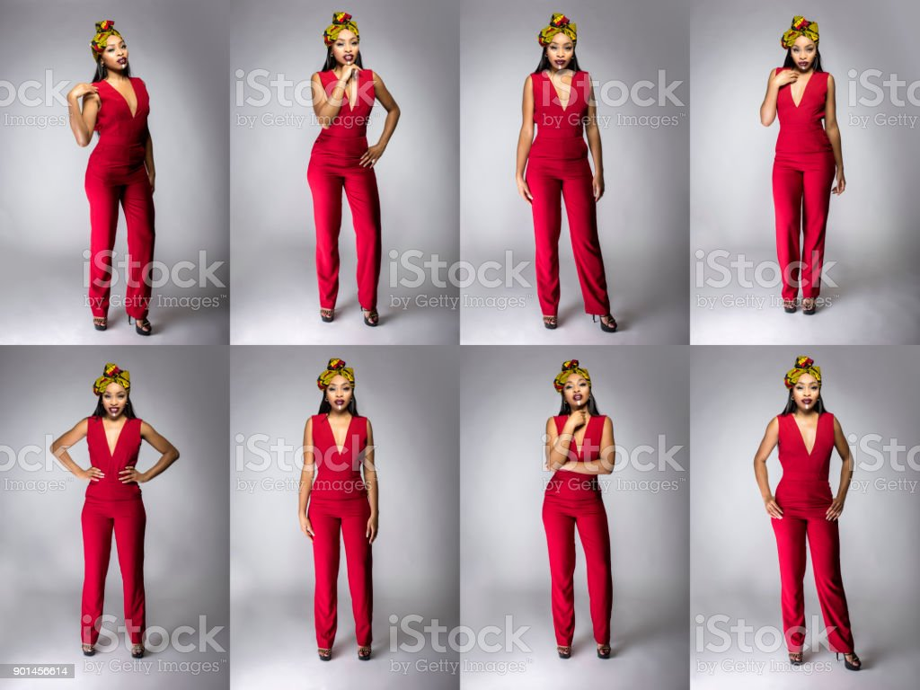 Series Of Modern Clothing With Traditional African Fashion Stock Photo Download Image Now Istock