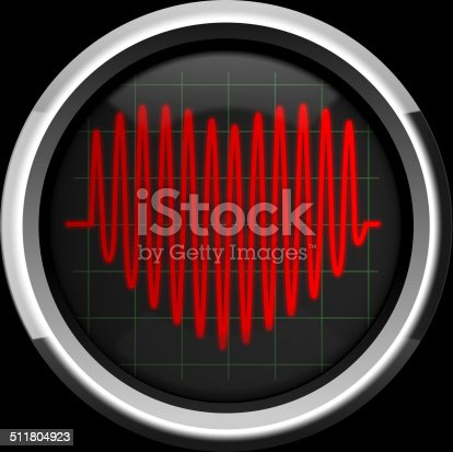 istock Series of pulses in the form of heart 511804923