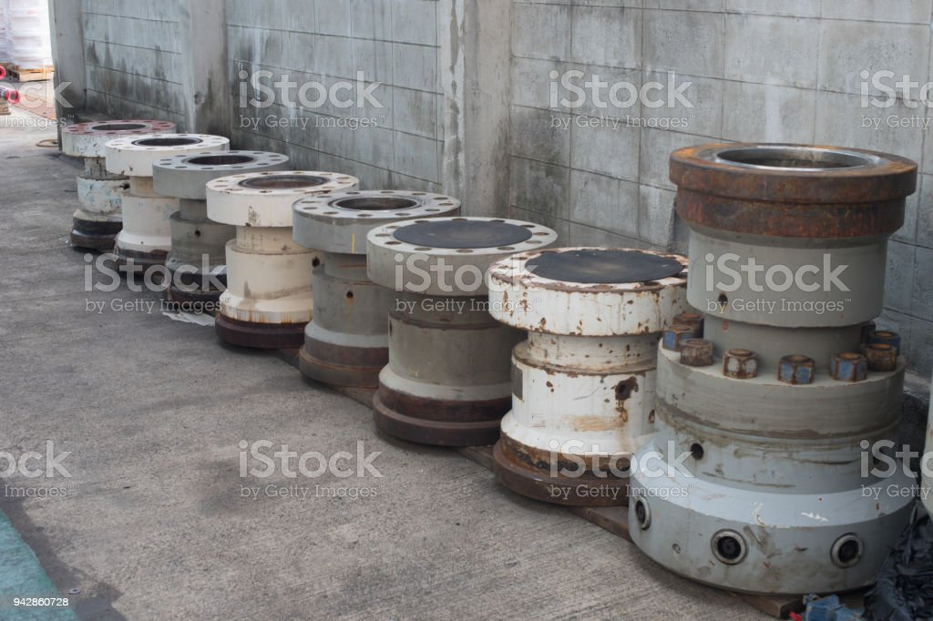 Series of Riser connector. stock photo