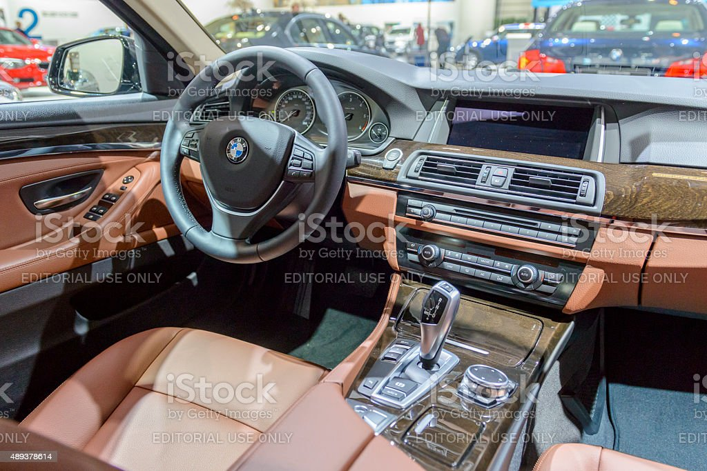 Bmw 5 Series Touring Interior Stock Photo More Pictures Of 2015