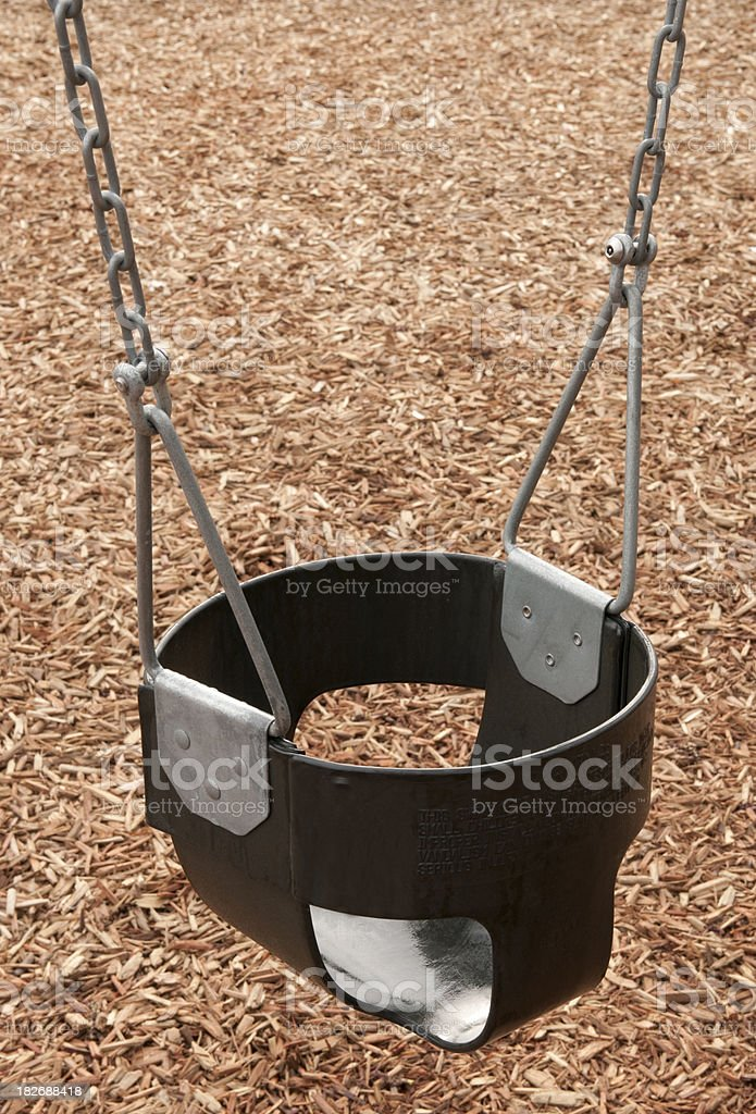 CHILD SAFETY SERIES-unattended swing seat stock photo
