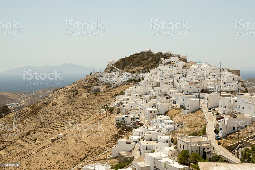 Serifos Town, Greece stock photo