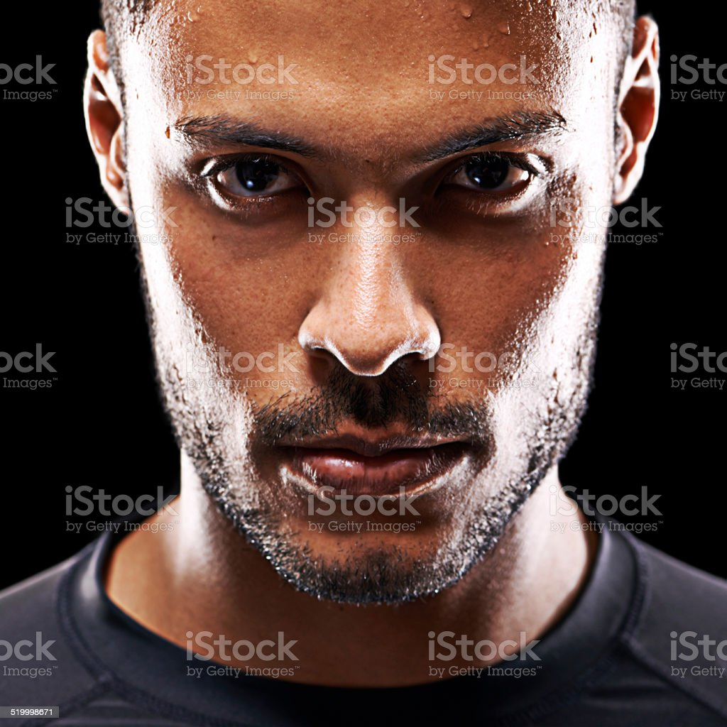 Serious about his fitness stock photo