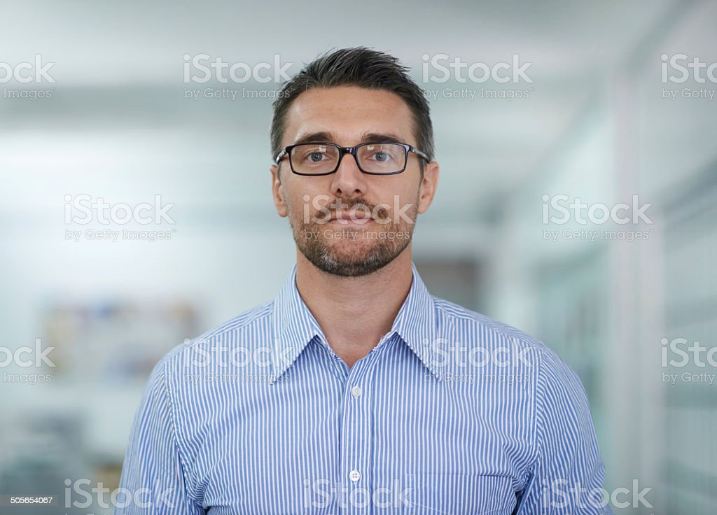 Serious about my career stock photo