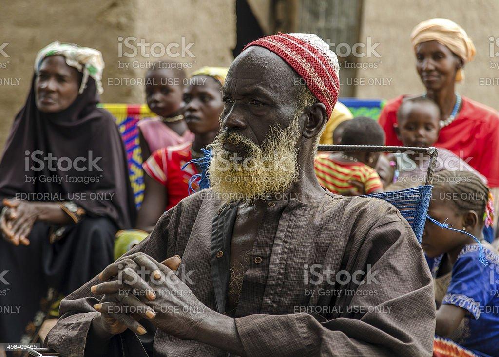 Serious African Man (Bamako, Mali) stock photo