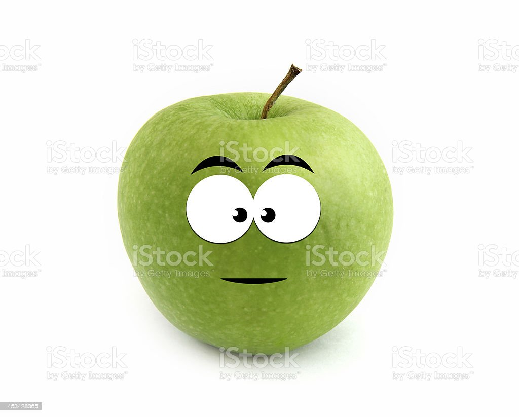 Serious apple royalty-free stock photo