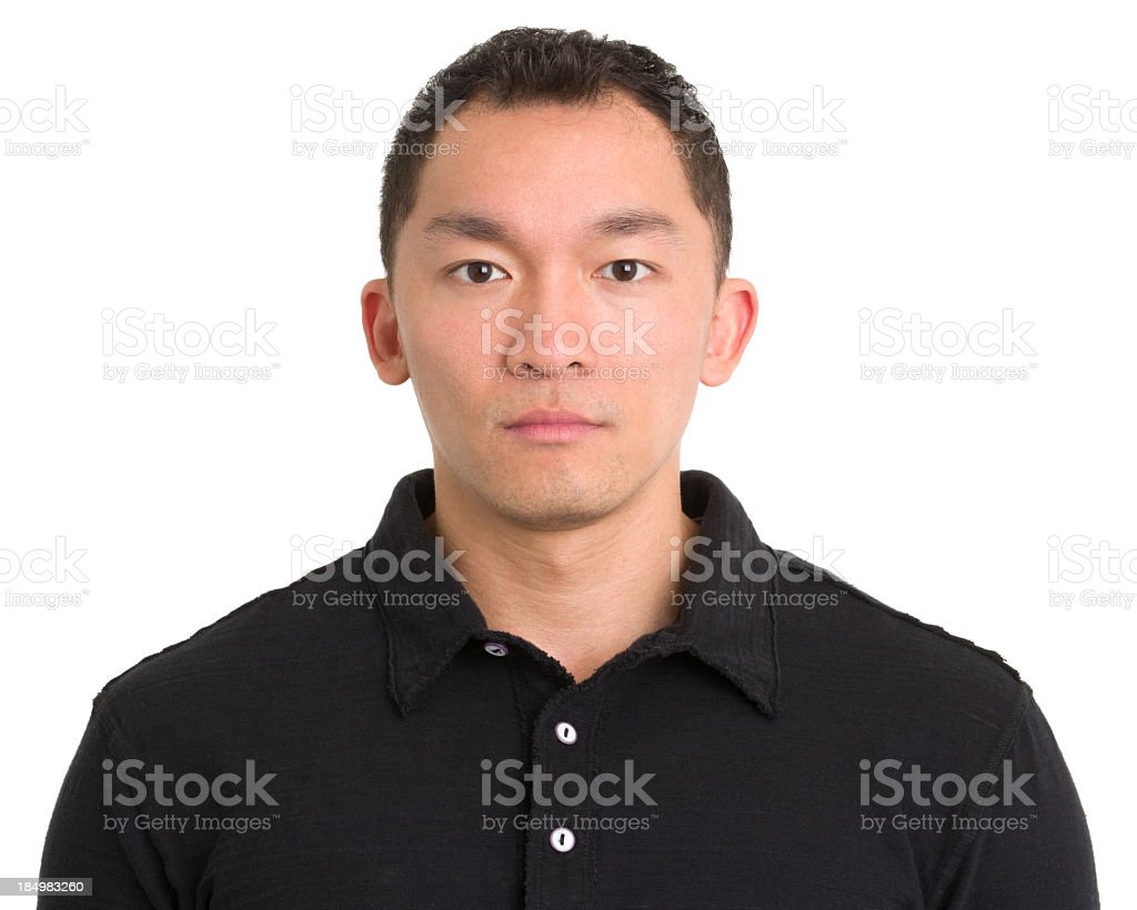 Serious Asian Man Staring royalty-free stock photo