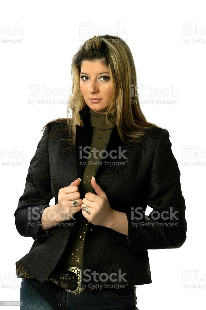 Serious beauty look at the camera royalty-free stock photo
