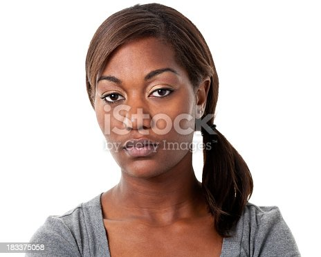 istock Serious Bored Young Woman 183375058