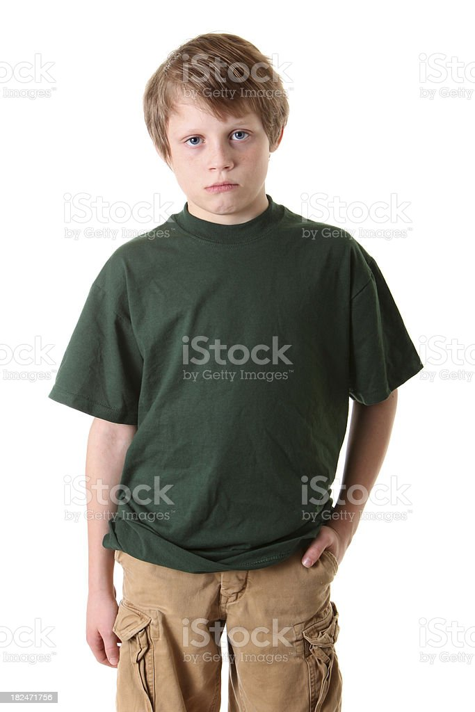 serious boy portrait stock photo
