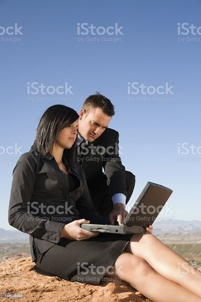 Serious Business outdoors stock photo