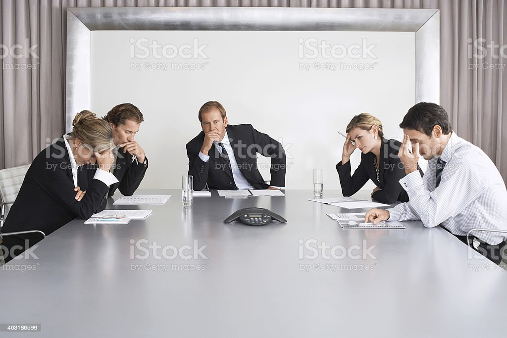 Serious Business People On Conference Call stock photo
