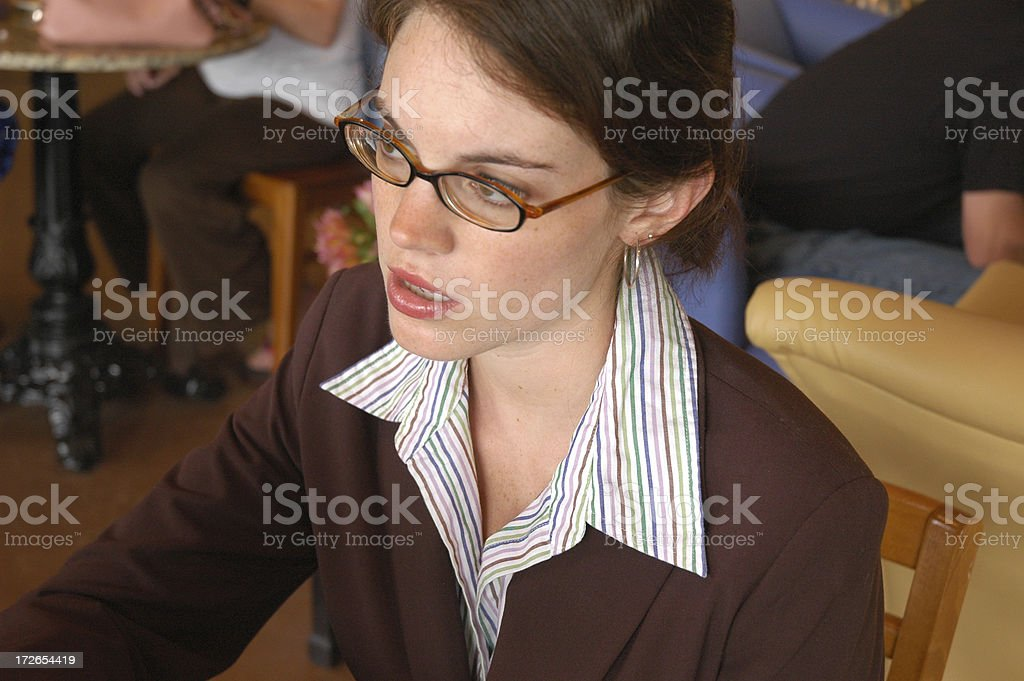 Serious Business royalty-free stock photo