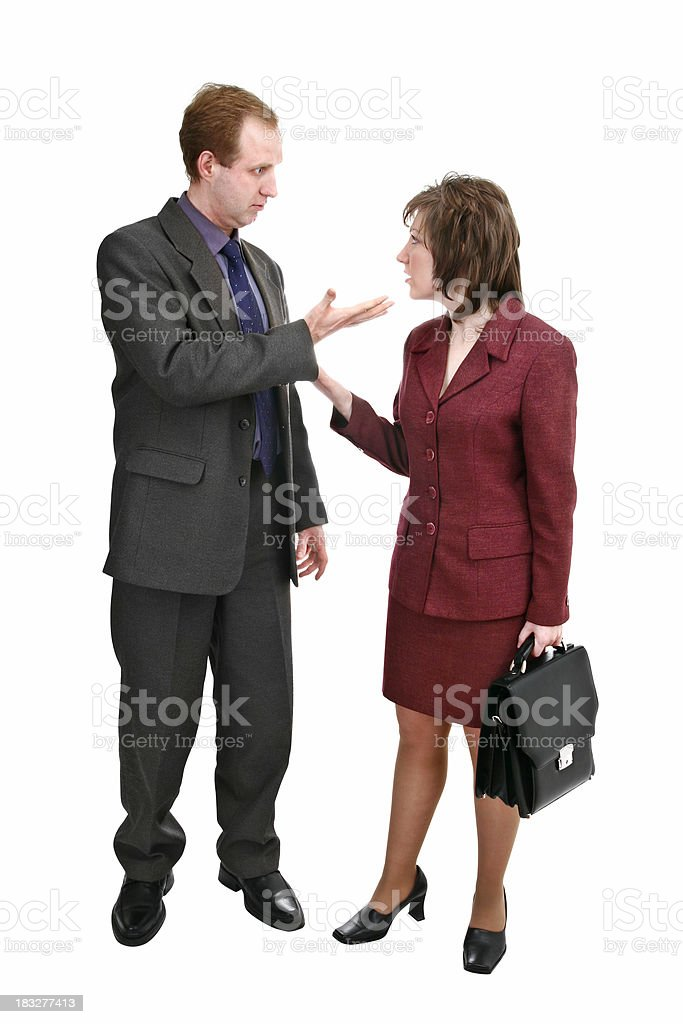 Serious business talks royalty-free stock photo