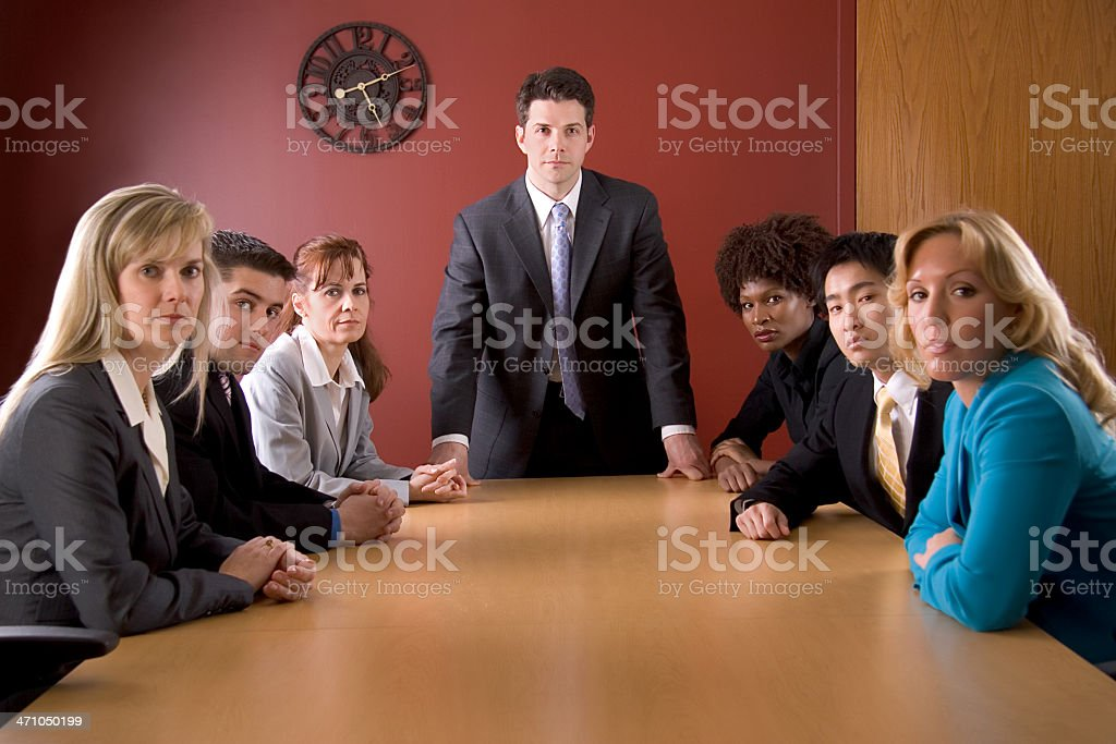 Serious Business Team royalty-free stock photo