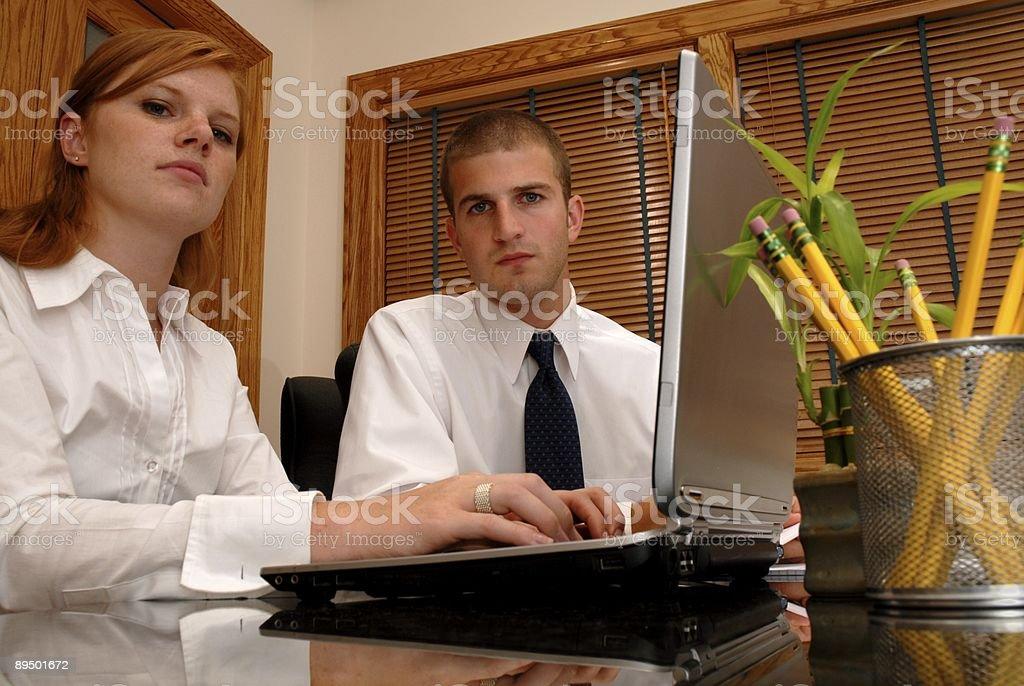 Serious Business Team royalty free stockfoto