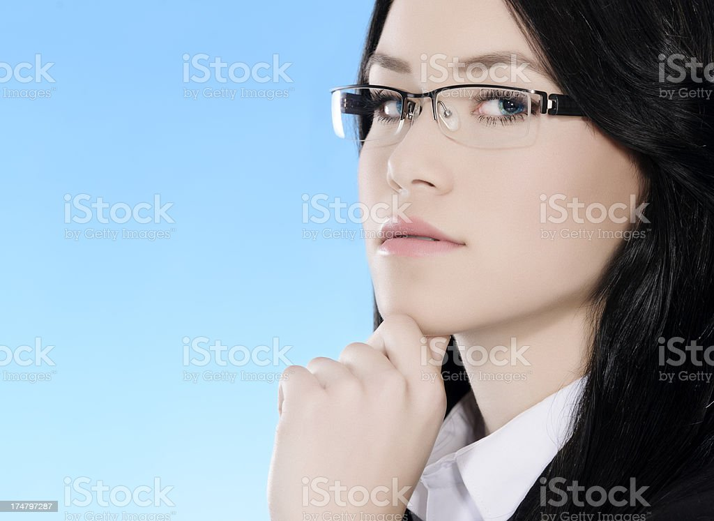 serious business woman royalty-free stock photo