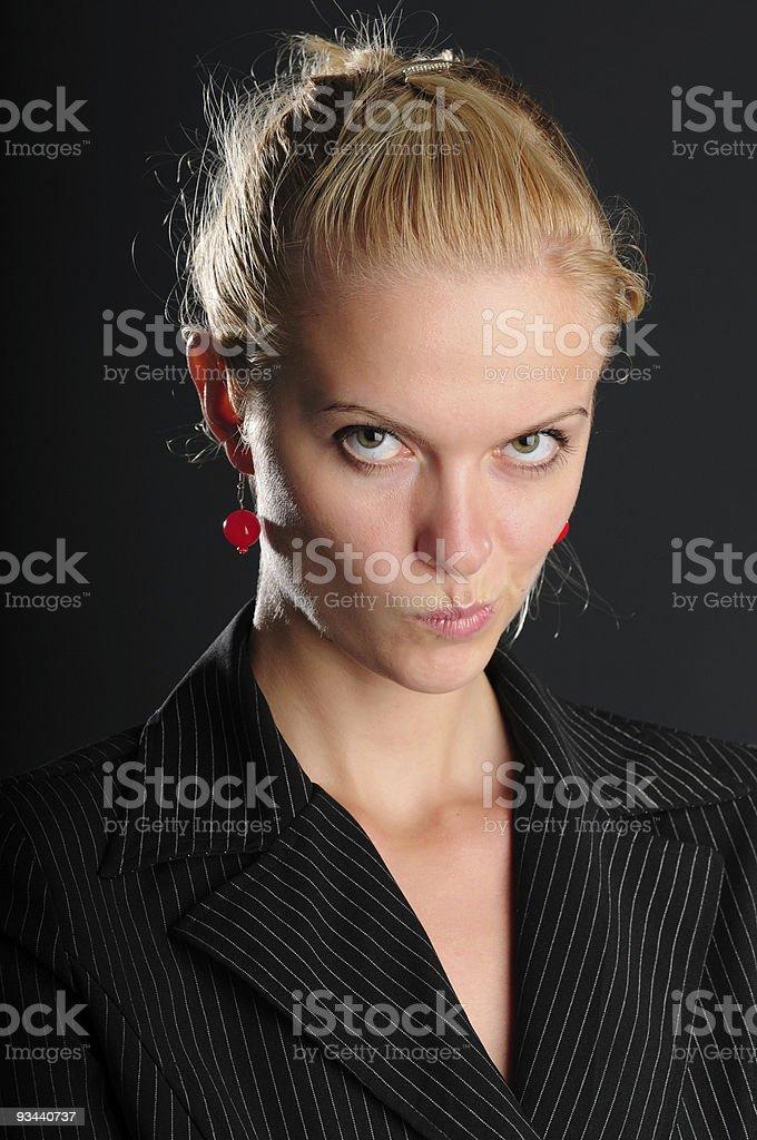 Ernst business Frau Lizenzfreies stock-foto