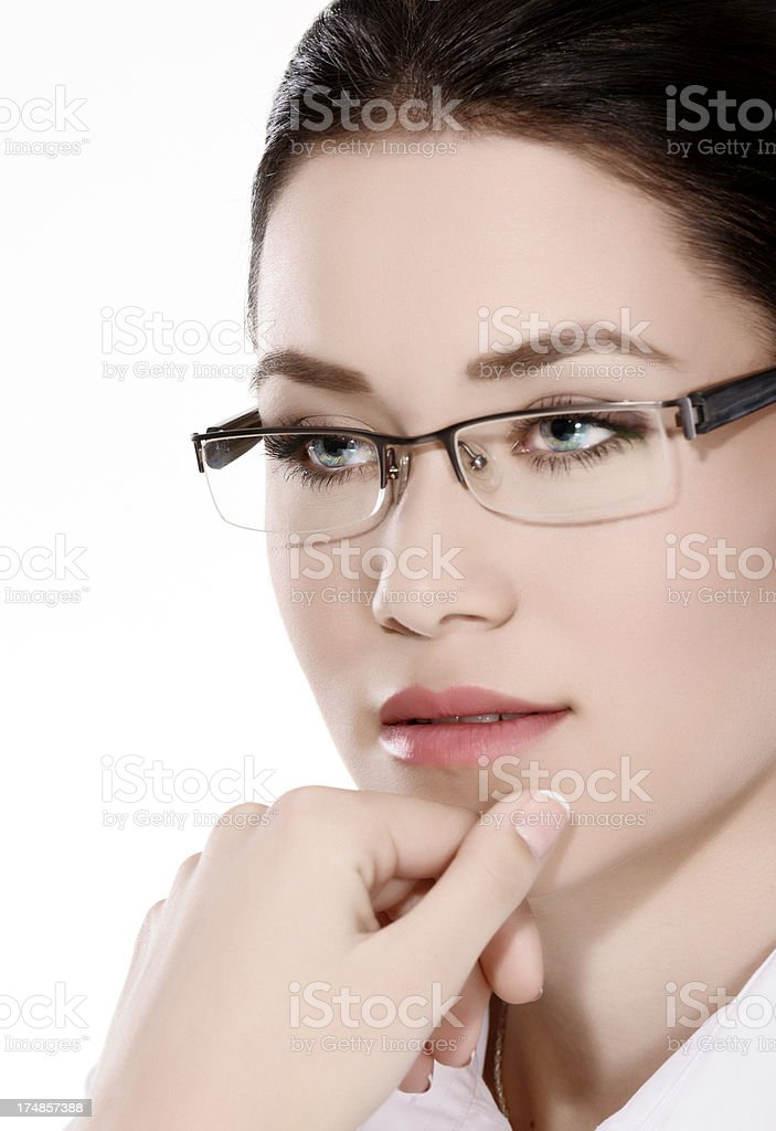 serious business woman portrait royalty-free stock photo