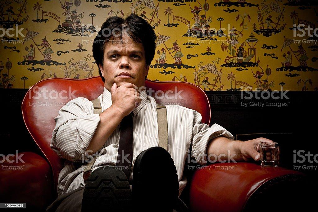 Serious Businessman Contemplating stock photo
