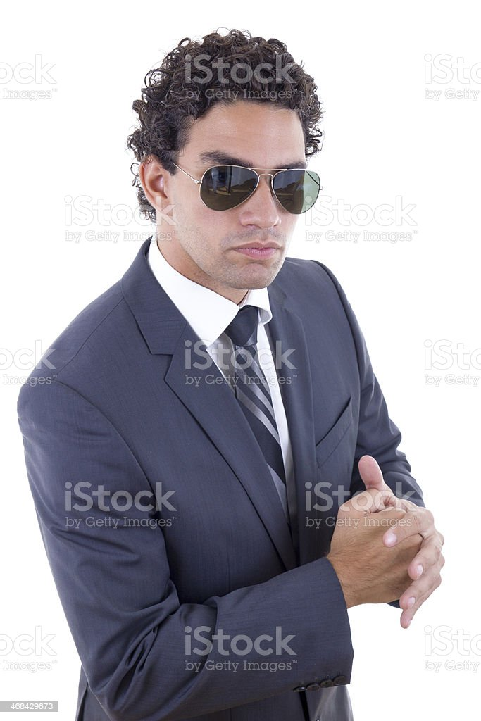 serious businessman in suit stock photo