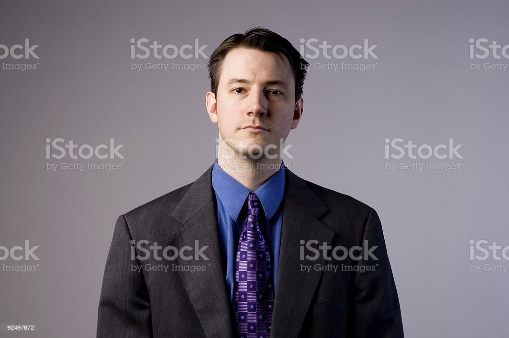 Serious BusinessMan royalty-free stock photo