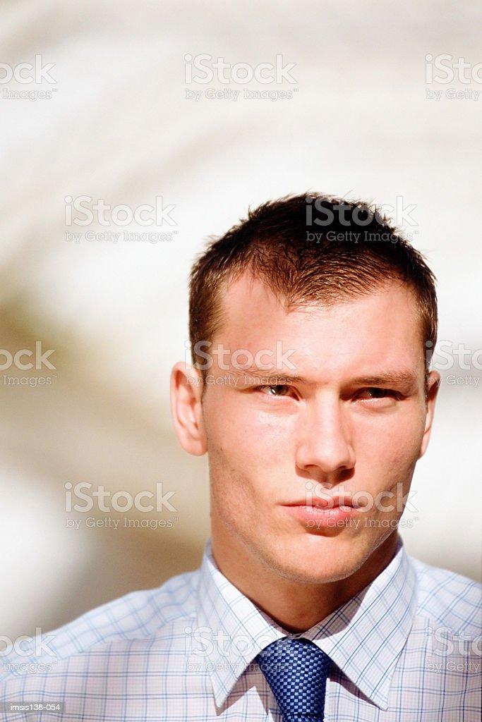 Serious businessman royalty free stockfoto