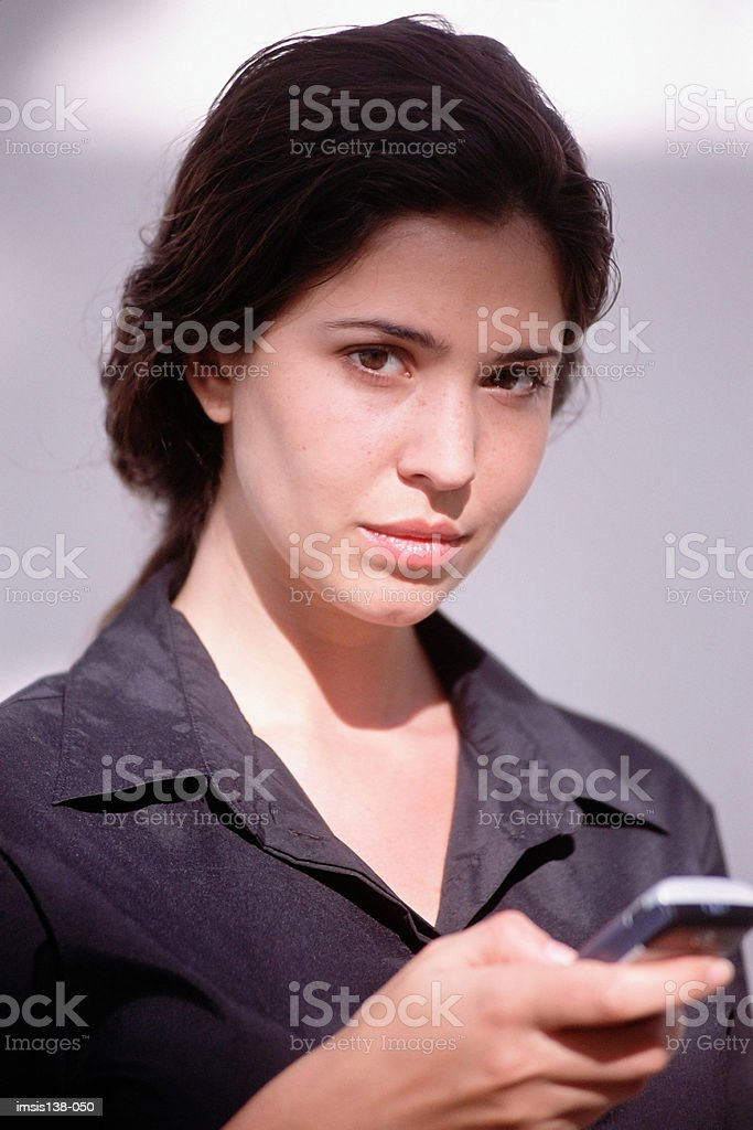 Serious businesswoman royalty-free stock photo