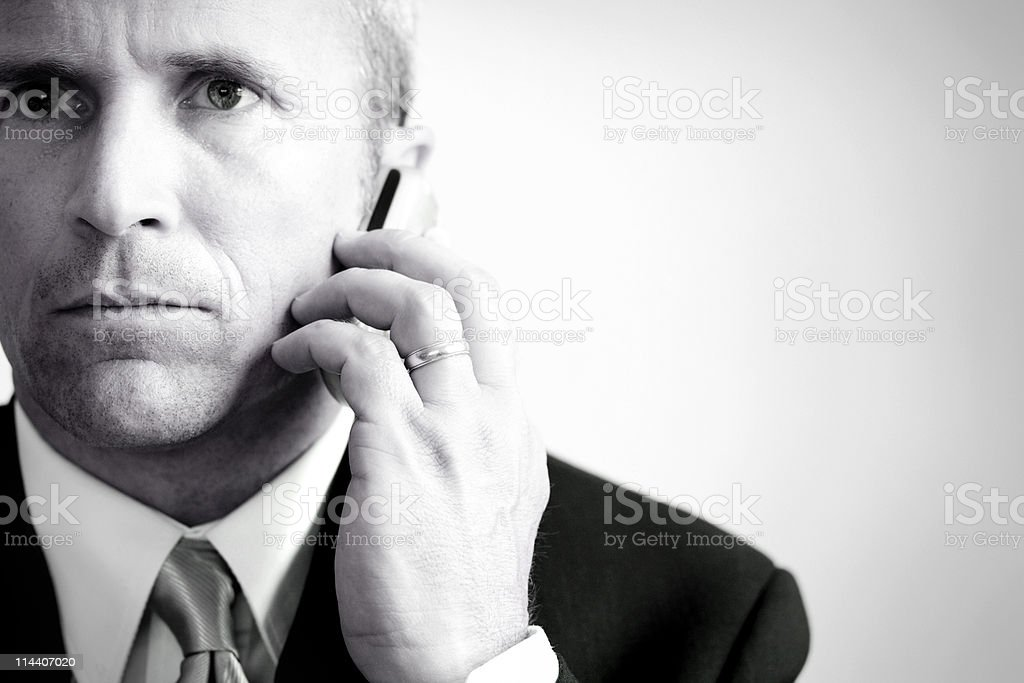 Serious Call royalty-free stock photo