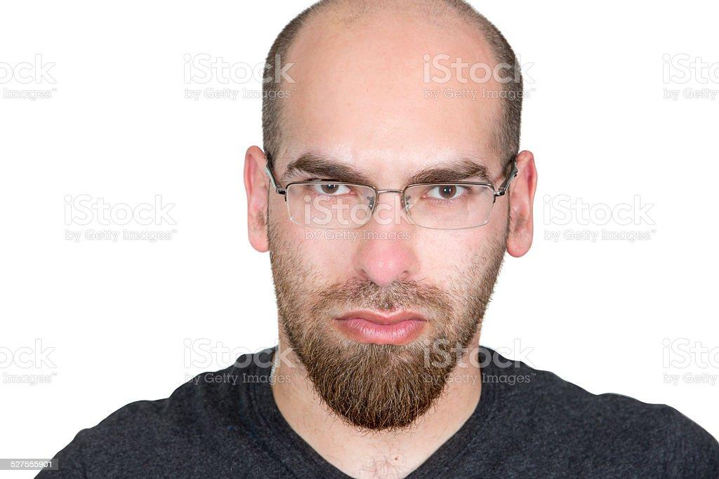s rieux homme caucasien avec cr ne ras de la barbe et de la moustache photos et plus d 39 images. Black Bedroom Furniture Sets. Home Design Ideas