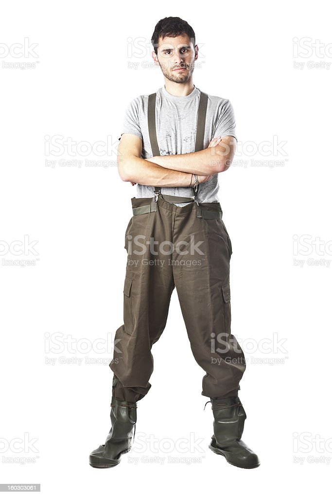 Serious Chemical worker royalty-free stock photo