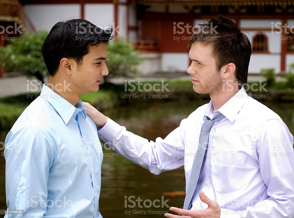 Serious Conversation royalty-free stock photo