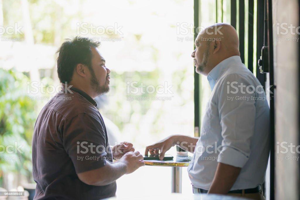 Serious Conversation royalty-free stock photo