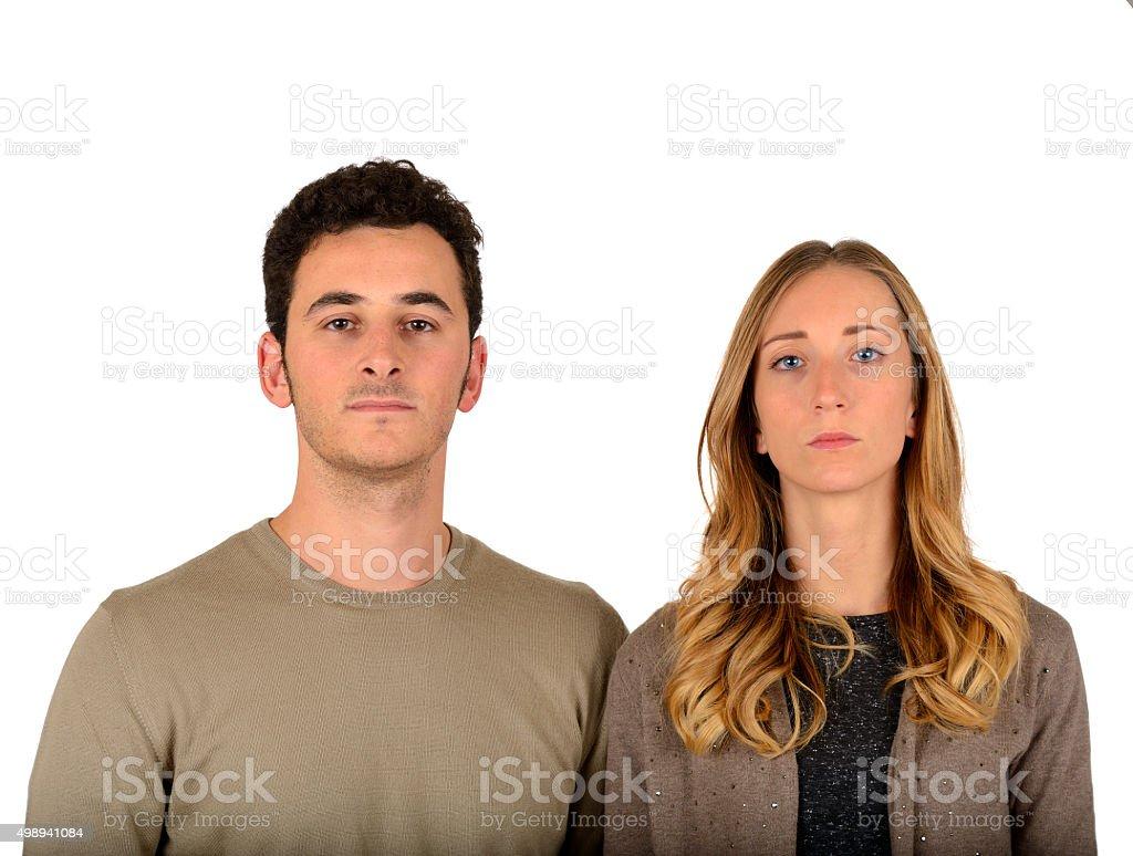 Serious Couple stock photo