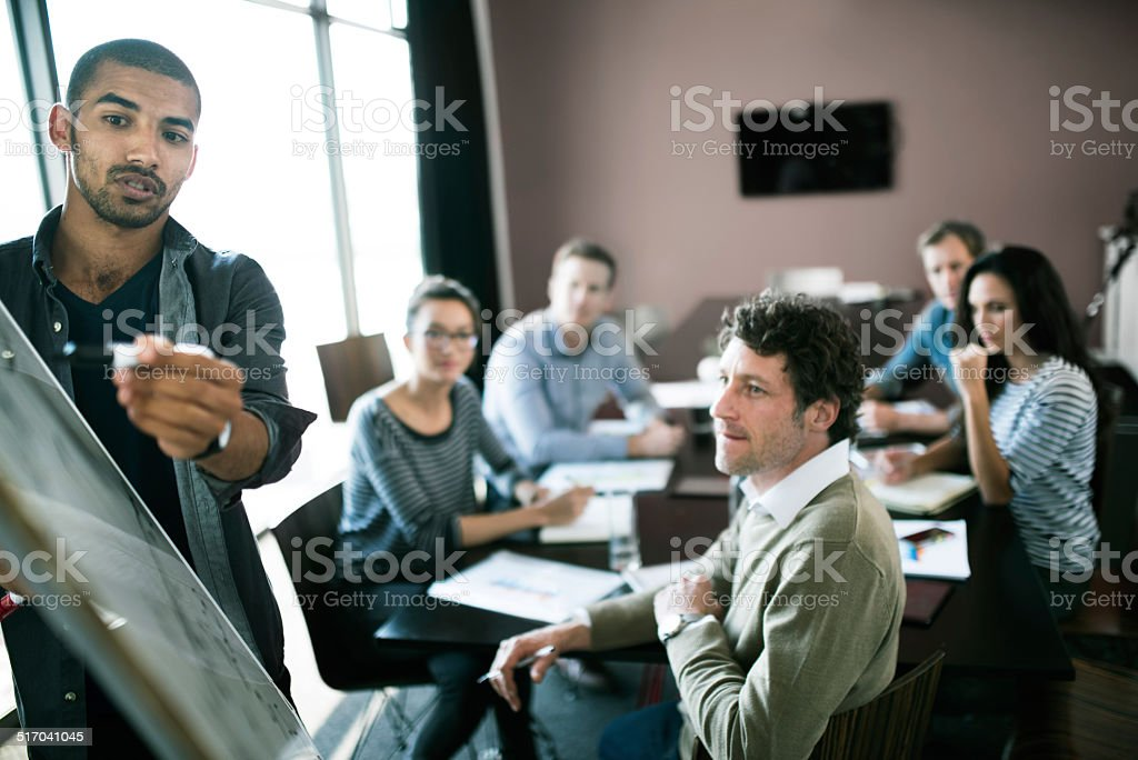 Serious Discussions stock photo