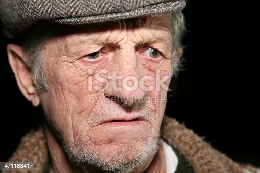 istock Serious Elderly Man With A Hat On 471183417