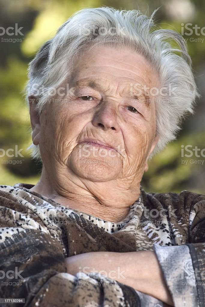 Serious elderly woman royalty-free stock photo