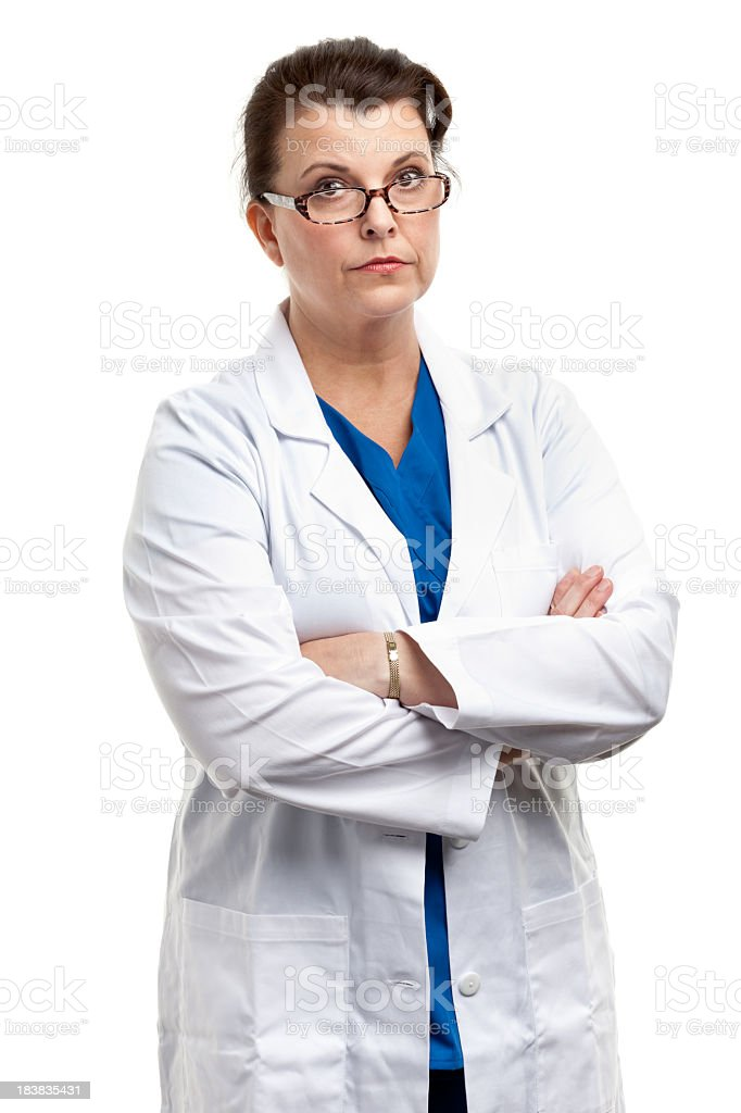 Serious Female Doctor stock photo