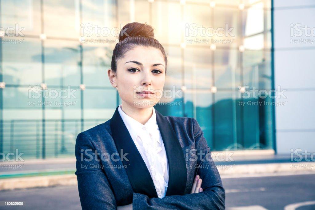 Serious female executive royalty-free stock photo