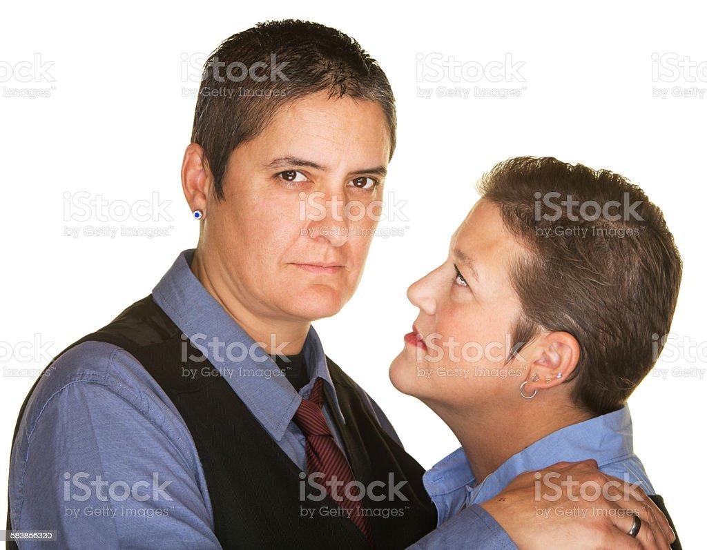 Serious Gay Couple stock photo
