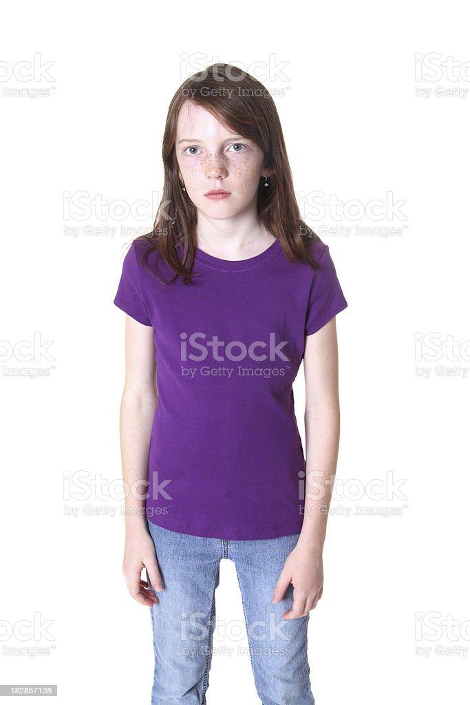 Serious Girl royalty-free stock photo