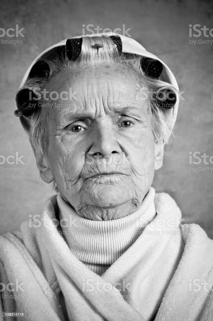 serious grandmother royalty-free stock photo