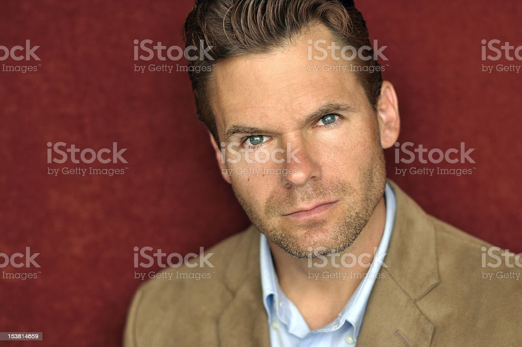 Serious handsome man stock photo