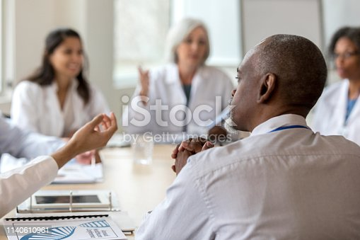istock Serious hospital administrator 1140610961
