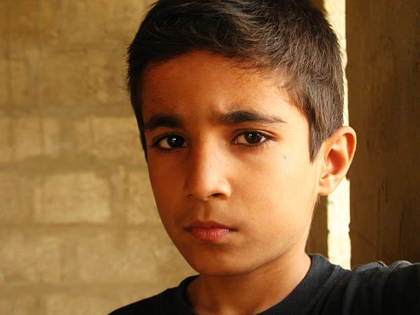 Serious kid stock photo