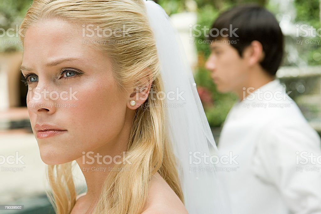 Serious looking bride 免版稅 stock photo