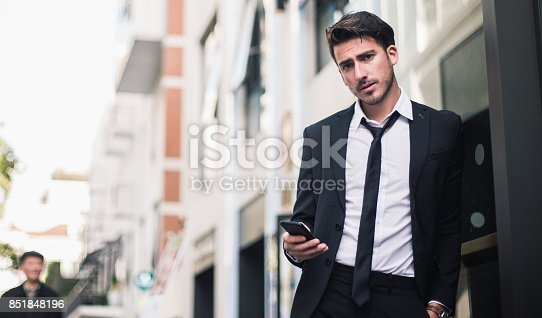 istock Serious looking businessman 851848196