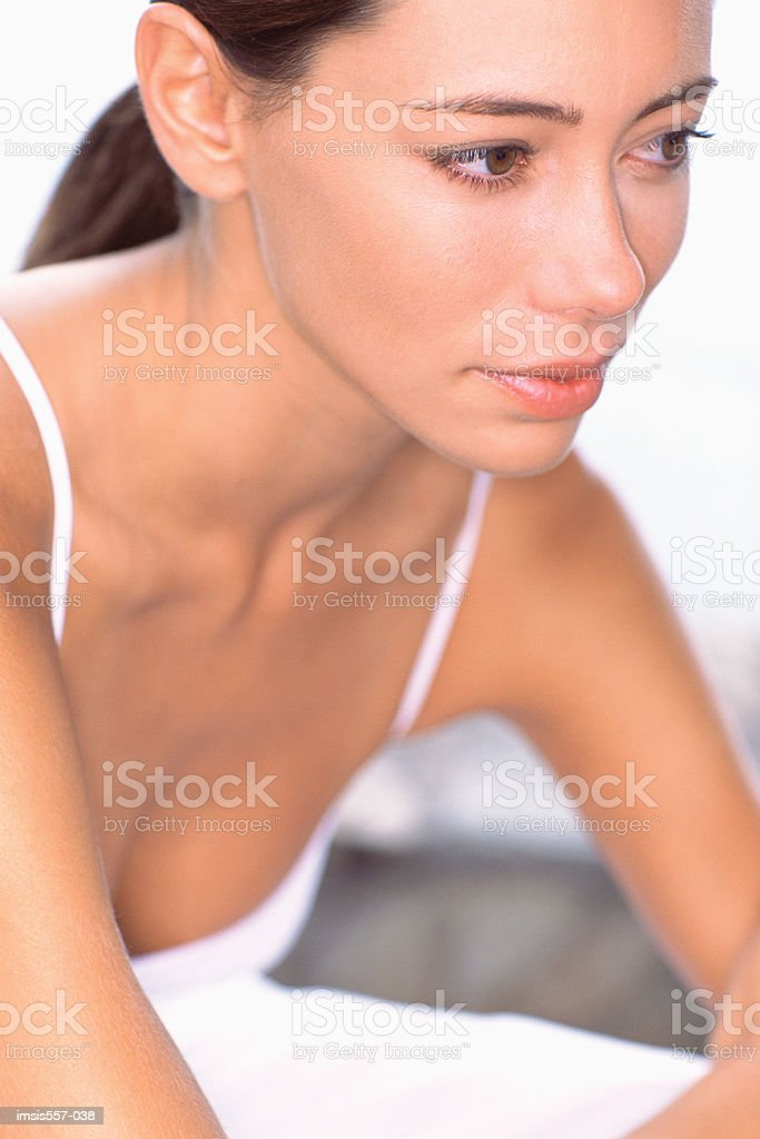 Serious looking woman royalty-free stock photo