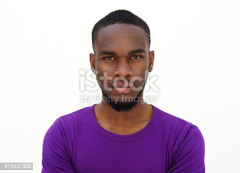 Serious Looking Young African Man Stock Photo & More Pictures of 20-24 Years
